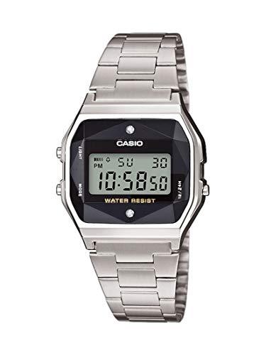 Casio Orologio Digitale Quarzo Unisex Adulto con Cinturino in Acciaio Inox A158WEAD-1EF
