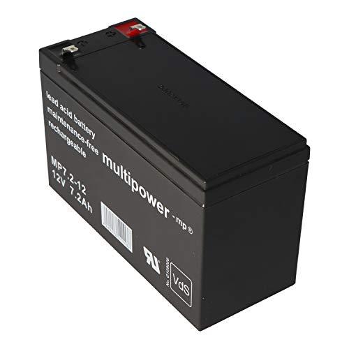 Multipower MP7.2-12 PB Bleiakku Blei Bleigel Vlies Akku 12 Volt 12V 7,2Ah 7200mah AGM Technik VDS Zulassung