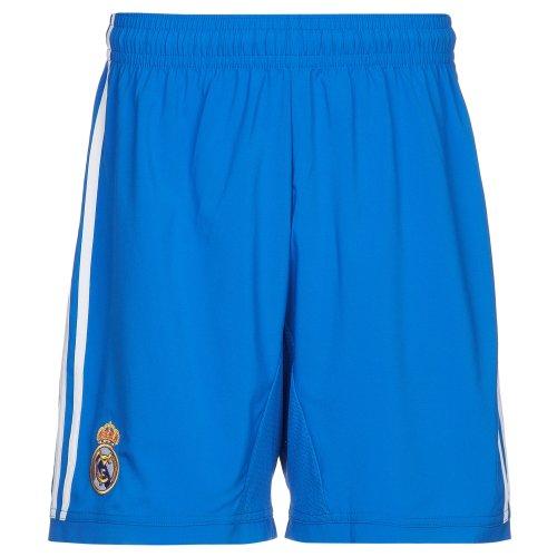 adidas - Pantalón Corto para Hombre, diseño de la 2ª equipación del Real Madrid Azul Air Force Blue/White Talla:Large