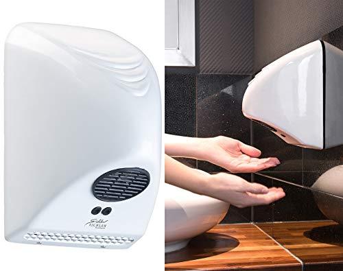 Sichler Haushaltsgeräte Warmlufthändetrockner: Automatischer elektrischer Händetrockner zur Wandmontage, 850 Watt (Vollautomatischer Händetrockner)