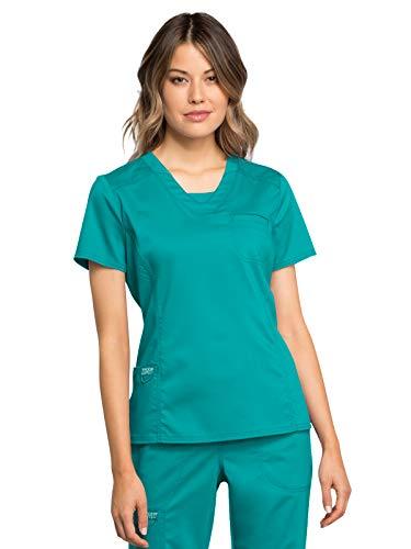 Cherokee Workwear Revolution - Camiseta con cuello en V -  Azul -  Medium