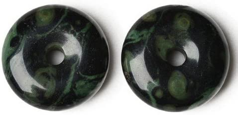Wholesale Kambaba Jasper Donut Charm 40mm Black Pendant lowest price Green 3 Direct stock discount