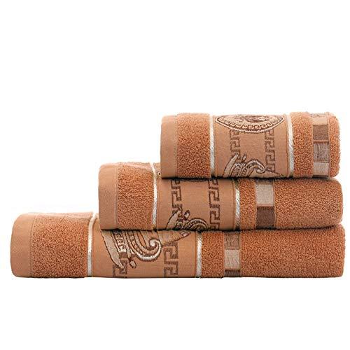 PrittUHU 100% algodón Conjunto de Toallas de baño patrón geométrico Toalla de baño para Adultos Cara de Mano Toallas de Mano Terry toalth Toalla Deportiva (Color : 2, Size : 4pcs)