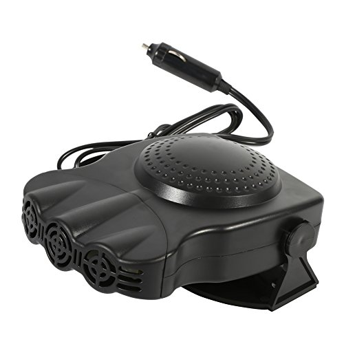 Chauffage de voiture portable dégivreur de pare-brise automatique désembueur souffleur d'air 12V 150W 2 en 1 chauffage de véhicule de voiture dispositif de...