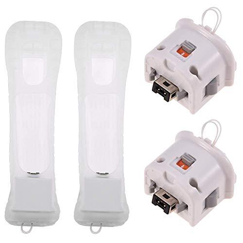 Wii Motion Plus Adattatore Accessorio per Telecomando Wii con Cover in Silicone per Nintendo Wii Remote Controller (2)