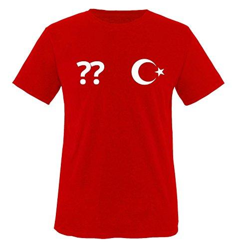 Trikot - TÜR - WUNSCHDRUCK - Kinder T-Shirt - Rot/Weiss Gr. 86-92