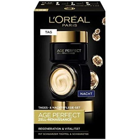 L'Oréal Paris - Juego de cuidado facial regenerador de células para el día y la noche Age Perfect