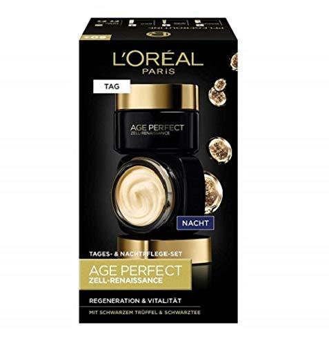 L'Oréal Paris Gesichtspflege Set, Age Perfect Zell-Renaissance, Anti-Aging Tagespflege und...