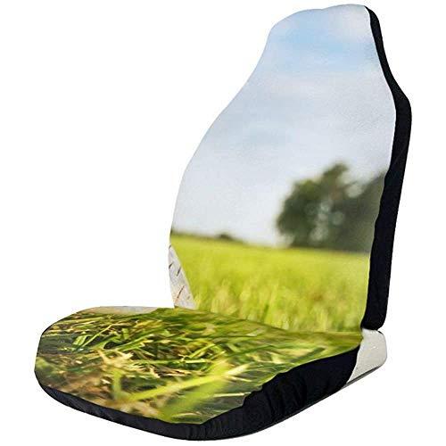 MaMartha Car Seat Cover Golfschläger und Bälle Peace Sign Autositzbezüge für den vorderen Fahrzeugsitzschutz passen für die meisten PKW-Geländewagen