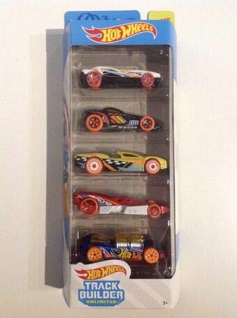 hot wheels track builder unlimited 2020 - 5 cars pack- Multi color