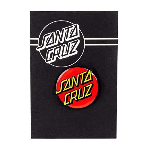 SANTA CRUZ Classic Dot Emaille Push Back Pin BMX Skate Board Sk8 Neu Rot Gelb