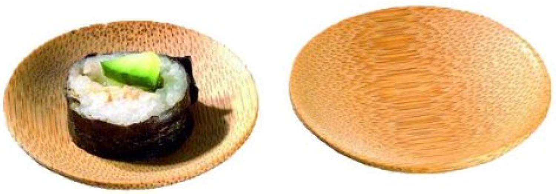 Packnwood Bamboo mini piatto tondo, 5,8cm di lunghezza (case of 144)
