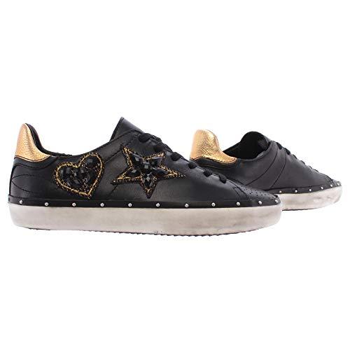 Rebecca Minkoff Chaussure Femme Sneakers 00MW NA02 Swarovski Nappa Black Noir