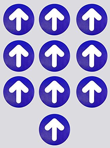 Flechas Adhesivas Para el Suelo 10 uds de 21 cm Pegatinas Antideslizantes de Señalización Suelo Vinilo Adhesivo Impreso con Textura Antideslizante para Suelo (AZUL)