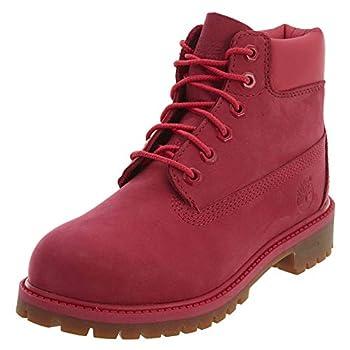 Timberland Kids Girl s 6  Premium Waterproof Boot  Little Kid  Red Rose Waterbuck 1 M US Little Kid