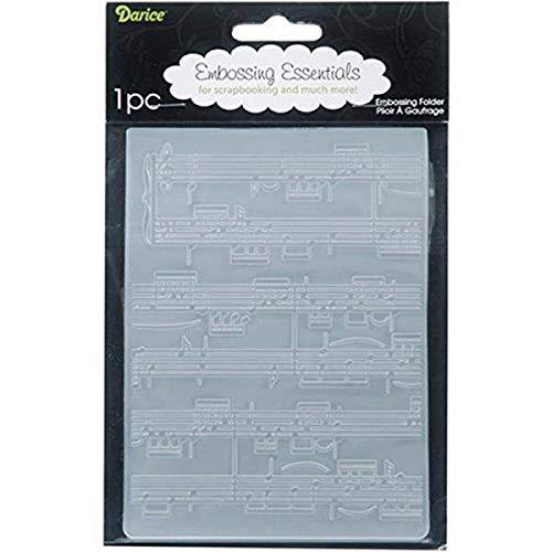 Darice Carpetas de estampación, Plantilla partitura de música, Plastic, 10,8 x 14,6 cm