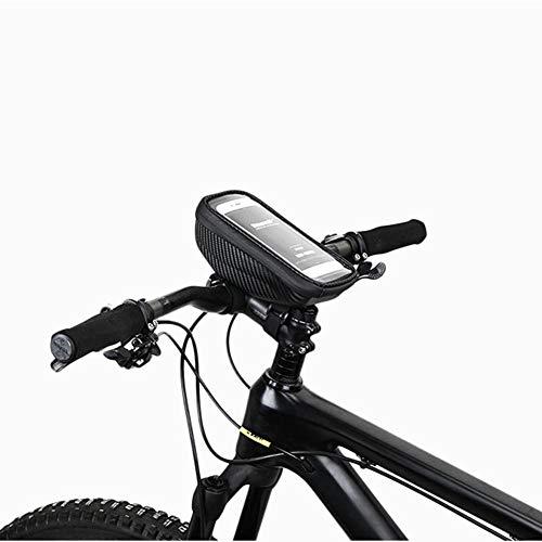SHOH Fietsstuurtas, fietsvoorvak voor fiets, telefoonhoes, fietstas met aanrakbare fietstas, beschermt je telefoon stabiel, voldoet aan de behoeften van het stuur
