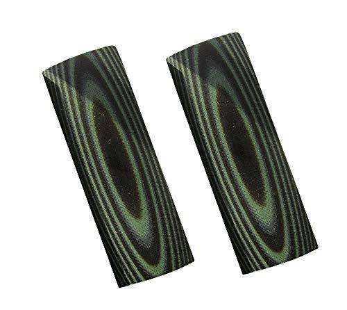 RECHERE Messergriffe, G10, schwarz, grün, 120 x 40 x 8 mm, 2 Stück