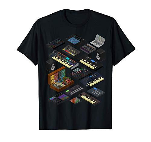 Synthétiseur Dj Producteur de Musique Electronique Beatmaker T-Shirt
