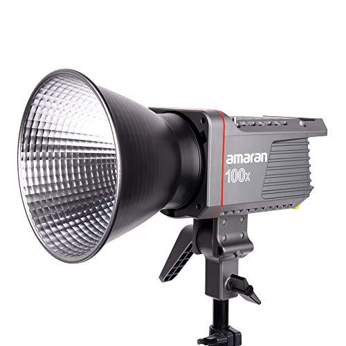 Amaran 100x 撮影ライト 130W バイカラー2700K-6500K CRI95+ TLCI96+ 34300Luxx@1M アプリ制御可能 9プログラム照明効果 ライト制御一体設計 LEDビデオライト LED定常光ビデオライト