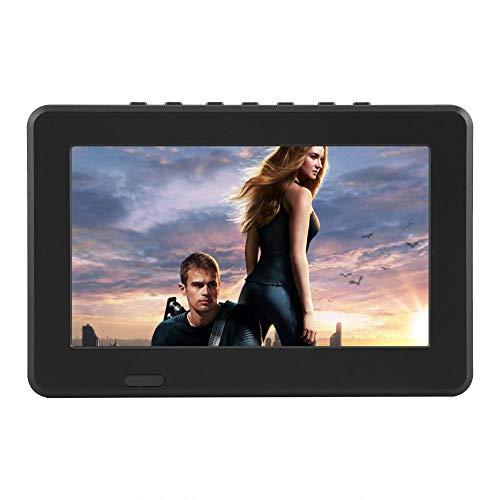 Bewinner 1080p ATSC TV Digital 7' /10' para Coche HD TV LCD con Soporte de Lechón Radio FM TV Digital de Alta Sensibilidad Entrada/Salida de AV Tarjetas SD y MMC, Dispositivos USB Mini TV(7 ATSC)