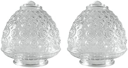 Pinapple Glass Shade 2 Pack Clear Glass Ceiling Fan Cover Replacement 3 1 4 Inch Fitter Opening product image