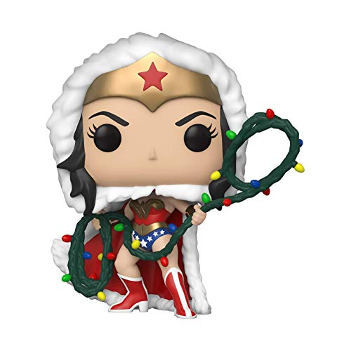 Funko- Pop Heroes: DC Holiday-Wonder Woman w/Lights Lasso Comics Holidays S1 WW Figura Coleccionable, Multicolor (50652)