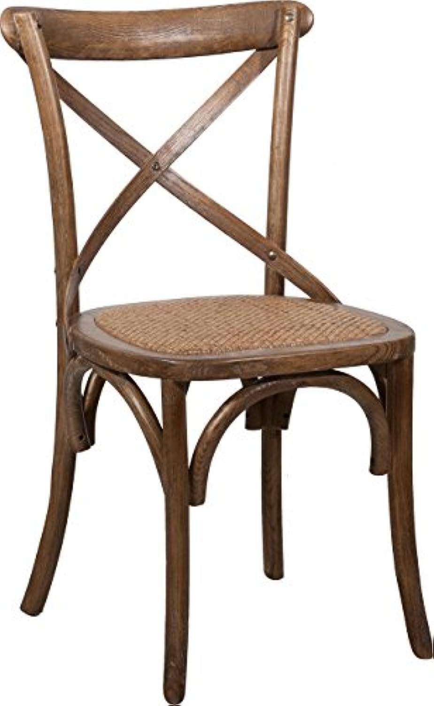 Satz von 2 Thonet-Stühlen aus massiver Esche und Rattansitzholz im Alter von 46x42x86 cm