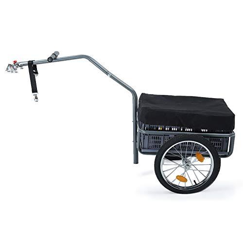 IKAYAA Fahrradanhänger Klappbar Bicycle Trailer Transportanhänger Handwagen Anhänger Cart Carrier 60 * 36 * 30cm