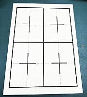 書道下敷き 罫線入り 半紙用 両面 4/6マス 名前欄なし 5枚