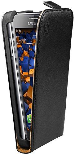 mumbi Echt Leder Flip Case kompatibel mit Samsung Ativ S Hülle Leder Tasche Case Wallet, schwarz