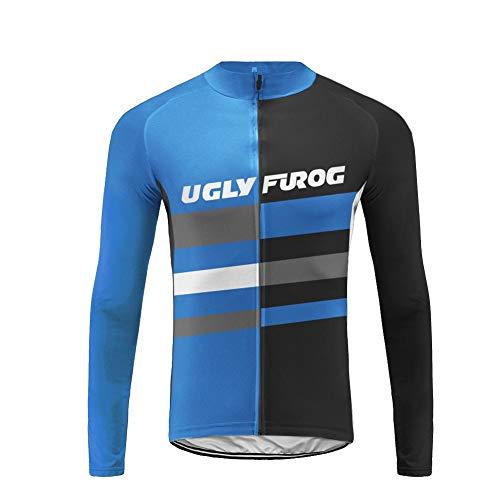 Uglyfrog Maillot Ciclismo Hombre, Maillot Bicicleta Hombre, Camiseta Ciclismo con Mangas Largas CXMX13F