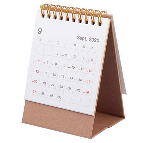 TOYANDONA White Mini Desk Tent Calendar 2021 Standing Coil Flip Monthly Calendar Academic Standing Calendar 2021 Planner Calendar
