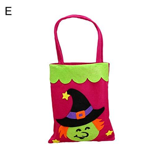 alsu3luy02Ld Halloween-Einkaufstasche, Kürbis-Motiv, Vliesstoff, Handtasche, Partydekoration, Witch#