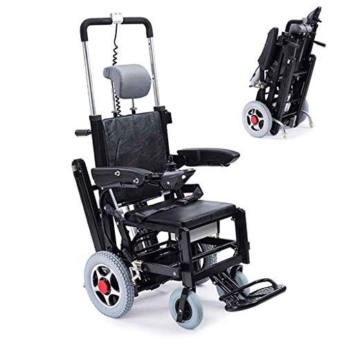 A&DW Escalera eléctrica Plegable Escalera para sillas de Ruedas, Tipo de Oruga Batería de Litio El Terreno Plano Puede ser eléctrico Caminar, Puede Subir y Bajar escaleras