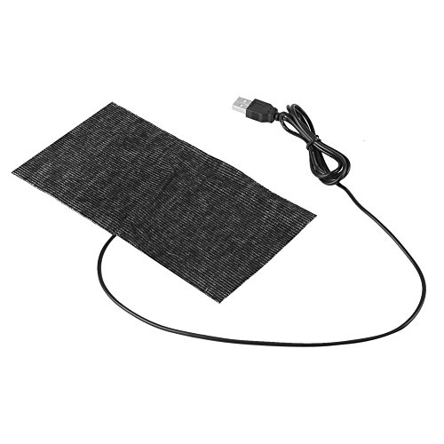 1 stks 5 V USB doek kachel, USB Koolstofvezel Verwarming Mat, 20 * 10 cm Muis Pad Warm Deken Pad Verwarming Film voor Kleding Stoel Huisdier Warmer Mat Pijn Verlichting