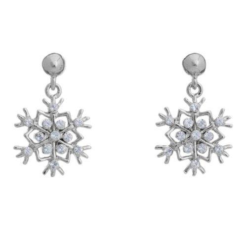 """Winter Flurry"" Snowflake Earrings By Annaleece Jewelry Made W Swarovski"