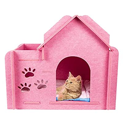Cat House Indoor Condos Felt Furniture Large Box...