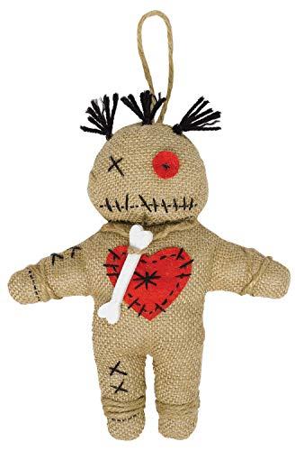 Amscan 847584-55 - Voodoo-Puppe, Größe circa 22 x 19 cm, aus Stoff, Rachepüppchen, Dekoration, Halloween