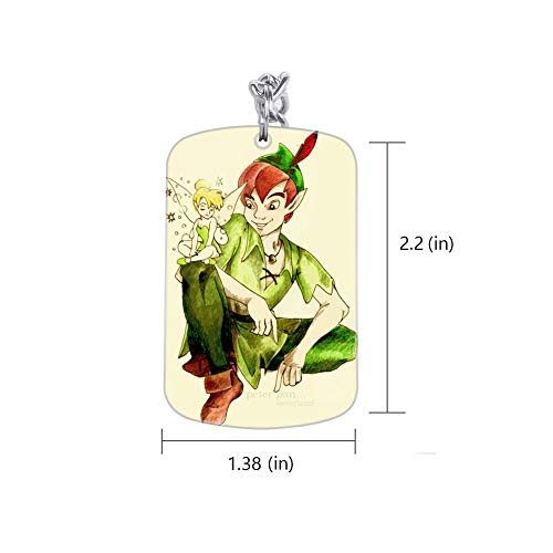 DISNEY COLLECTION Tinkerbell and Peter Pan Drawing Keychain Silver Handbag Purse Hanging Charms with Carabiner Clip Best Gift for Women Girls Men Husband Wife