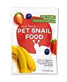 Fruit Flavored Pet Land Snail Food - Tasty High-Protein, Calcium Blend for Snails, Easy Addition to...