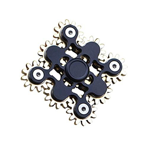 Bagima Fidget Spinner Toy - Fidget Spinner Engranajes Enlace Gyro Juguete Mano Spinner EDC Enfoque Meditación ADHD Alivio de Estrés Nuevo-Dientes Enlace Spinning Top Toys Diseño Mecánico