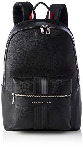 Tommy Hilfiger TH Downtown Backpack, Bolsas. para Hombre, Negro, One Size