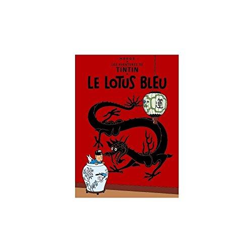 Póster Moulinsart álbum de Tintín: El Loto Azul 23300 (60x40cm)