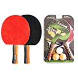 KAIYAN - Juego de futbolín de ping pong portátil para niños, adultos y principiantes, incluye 2 remos de tenis de mesa y 3 pelotas, equipo de deportes de interior