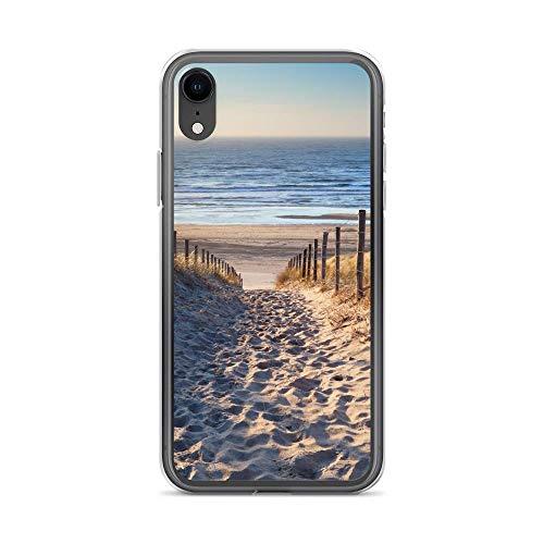 Megacase Handyhülle Bremen NORDSEE kompatibel für Samsung Galaxy S7 Edge Dünen Zaun Schutz Hülle Case Bumper transparent rund um Schutz Cartoon M3