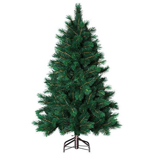 Sapin de Noël artificiel aux branches marrons - Qualité LUXE - 608 Branches - Hauteur 2.10 m - Coloris Vert