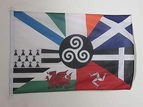 AZ FLAG Bandera Seis Naciones CELTAS 90x60cm Uso Exterior - Bandera Celta - Paises CELTAS 60 x 90 cm Anillos