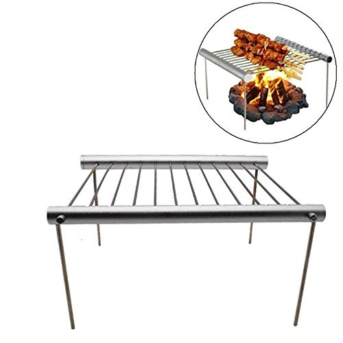 Z-NING Picknick Grillofen Rack Outdoor Travel Camping Tragbarer Grill Grill Edelstahl Einfache Röhre Abnehmbarer Grill Stent, A.