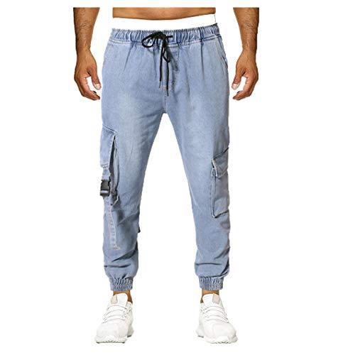 Herren Jeans Sweathose in Jeansoptik Jeans Arbeitshosen Jeanshose Mode Stretch Yoga Jogginghose Jeans in übergrößen Herren Mode Stretch Pluderhose Student Kleidung Passende Stiefel